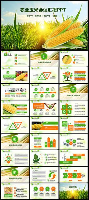 粮食农业丰收大米加工PPT