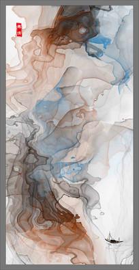 山水水墨画素材国画