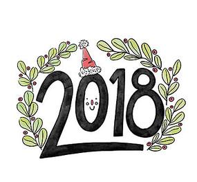 手绘2018字体设计