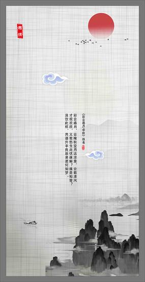 中国风背景墙装饰画
