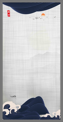 中国风壁纸壁画中堂画