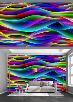 炫彩动感立体艺术背景墙