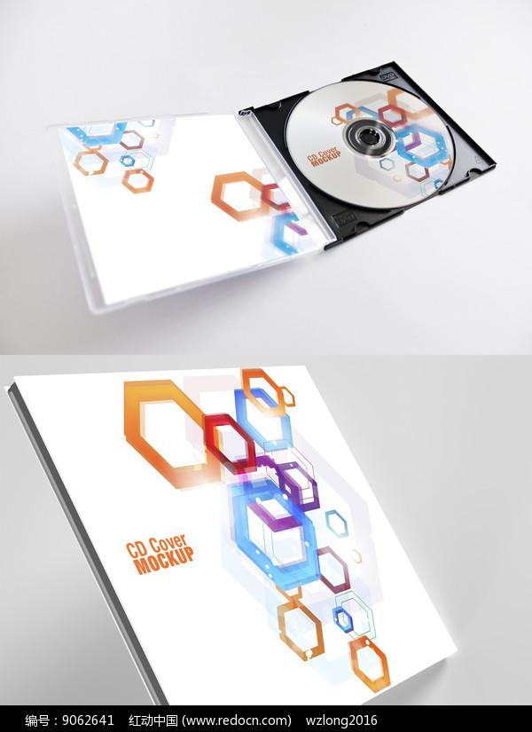 抽象艺术图形CD光盘封面设计图片