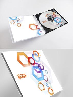 抽象艺术图形CD光盘封面设计 PSD