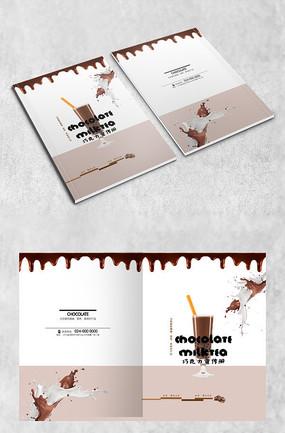 创意巧克力封面 高端巧克力零食海报 巧克力休闲甜点美食画册封面