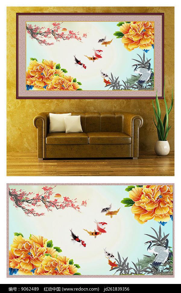 花鸟鱼虫工笔装饰画图片