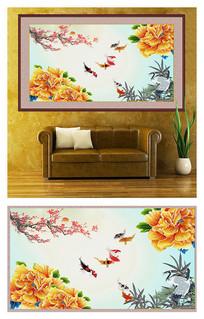 花鸟鱼虫工笔装饰画