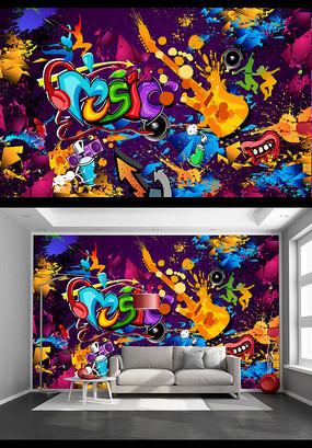炫酷歌厅娱乐场所背景墙