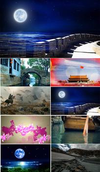 诗朗诵月光下的中国表演背景