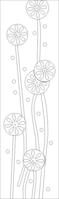 抽象蒲公英雕刻图案