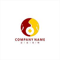 大象 铜钱 投资 标志 logo CDR