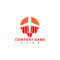 飞机 航空 物流 标志 logo