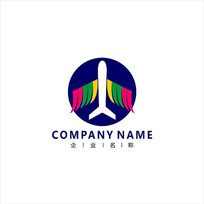 飞机 物流 航空 标志 logo