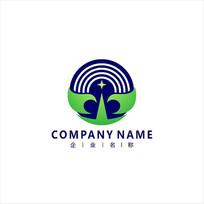 广播 卫星 通讯 标志 logo