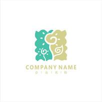 花朵 美术 儿童 标志 logo