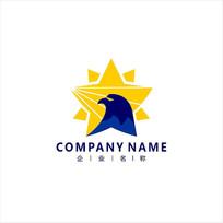 金融老鹰财经标志logo CDR