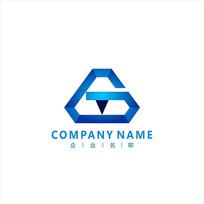 金融字母GT财经标志 logo CDR