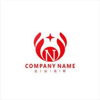 金融字母N财经标志logo CDR