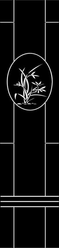 兰花雕刻图案