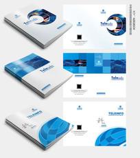 蓝色科技封面模版设计