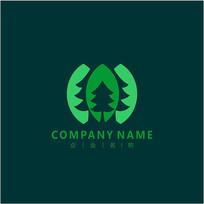 林业 树 自然 标志 logo