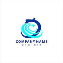 龙 科技 电子 标志logo