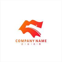 龙旗帜金融标志logo CDR