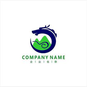 龙 山水 旅游 标志 logo