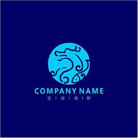 蛟龙 投资 水产 标志logo