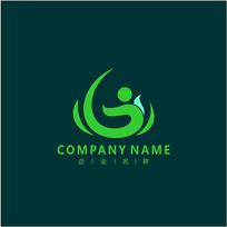 绿色 自然 能源 标志 logo CDR