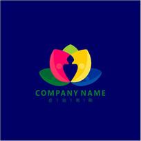 旅游 莲花 教育 标志 logo CDR