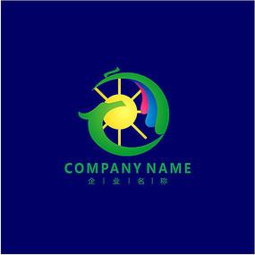 旅游 龙 太阳 标志 logo