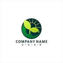 农业阳光绿叶标志 logo CDR