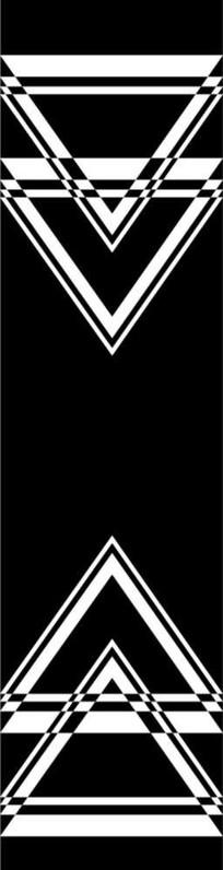 三角形雕刻图案