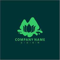 山水莲花标志logo CDR