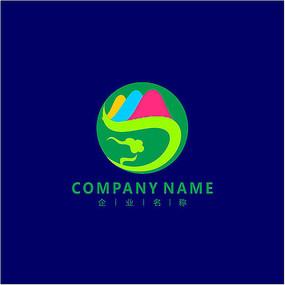 山水 旅游 凤凰 标志 logo