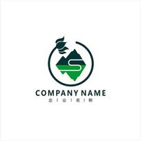 山水旅游莲花标志logo CDR