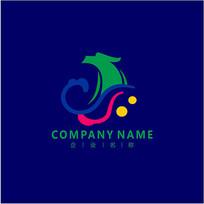 山水 旅游 龙 标志 logo