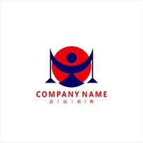 天秤 贸易 商业 标志 logo