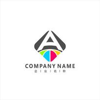 字母A 科技 电子 标志logo