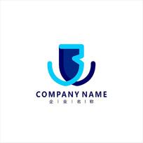 字母B 标志 logo CDR