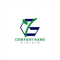 字母G 生物 农业 标志 logo