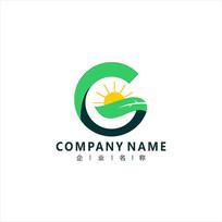 字母G 自然 能源 标志 logo CDR
