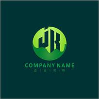 字母JR 自然 能源 标志 logo CDR
