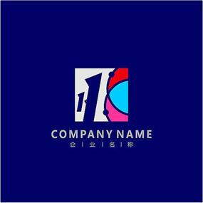 字母K网络数码标志 logo
