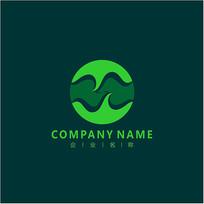 字母M 天然 美容 标志 logo
