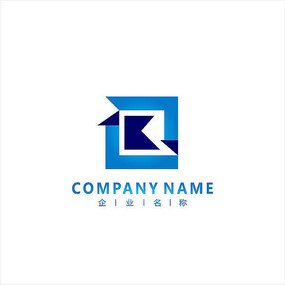 字母R 科技 电子 标志logo