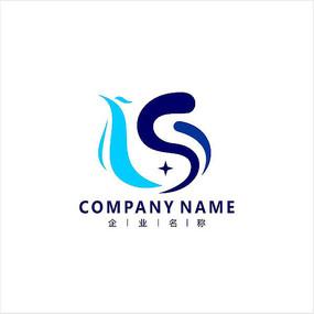 字母S 金融 凤凰  标志 logo