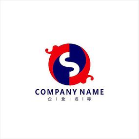 字母S 龙 金融 标志 logo