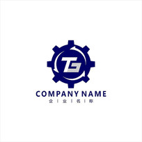 字母TG电子齿轮标志logo CDR